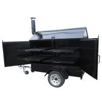 Fumoir 2 portes sur roue  (Modèle de base avec 4 tiroirs & aucun par-feu)