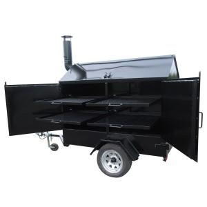 Smoker 2 doors on wheel (Basic model with 4 drawers & no firewall)