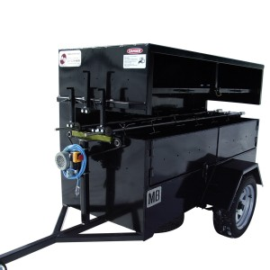 Spit roaster 2 spits 12 in on wheels