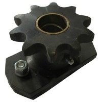 Sprocket #60 12 teeth for1 1/4 inch shaft with shearing bolt